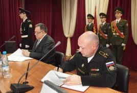 Подписание договора с чввму им. нахимова
